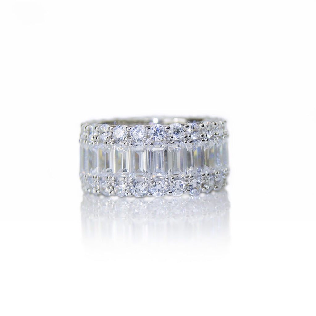 'GRACE KELLY' Baguette-Cut DiamondB Band Ring | BAND RINGS | BECKY THE LABEL - luxury accessories & jewelry brand