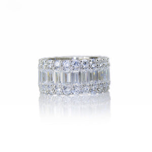 'GRACE KELLY' Baguette-Cut DiamondB Band Ring | BAND RINGS | BECKY JEWELRY
