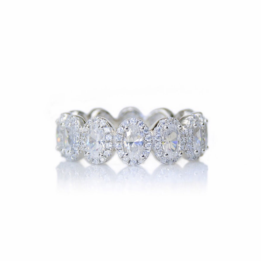 'CHARLOTTE' Oval-Cut DiamondB Band Ring | BAND RINGS | BECKY THE LABEL - luxury accessories & jewelry brand