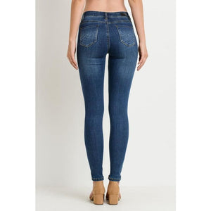 Dark Wash Skinny Jeans - Bottoms