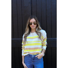Load image into Gallery viewer, Lemon Lime Lightweight Sweater - Top