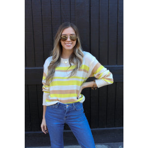 Lemon Lime Lightweight Sweater - Top