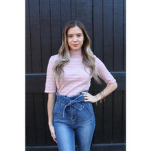 Load image into Gallery viewer, Pretty in Pink Mock-Neck Top - Top