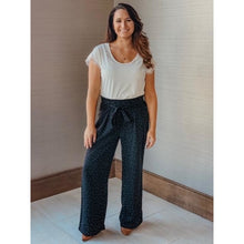Load image into Gallery viewer, Black Polka Dot Palazzo Pants - Final Sale - Bottoms