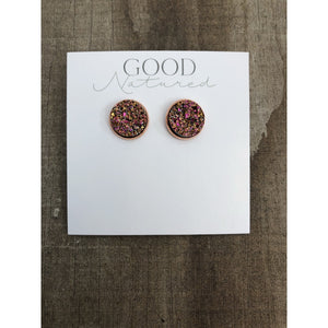 Champagne Druzy Earrings - Earrings