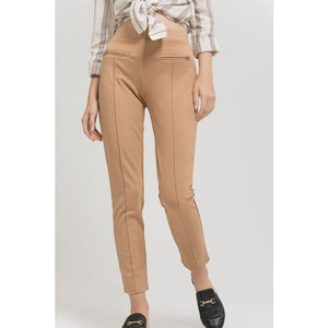 Khaki Knit Leggings - Bottoms