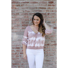 Load image into Gallery viewer, Mauve Tie Dye Sweater - Top