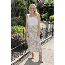 Load image into Gallery viewer, Satin Leopard Midi Skirt - Dress