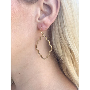 Gold Dangling Earrings - Earrings