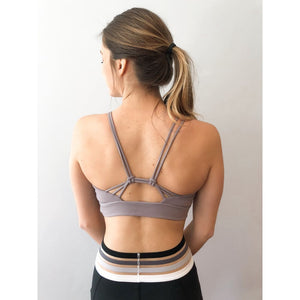 Knotted Strap Back Sports Bra - Athleisure