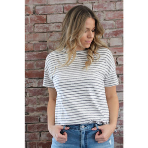 Jersey Striped Top - Top