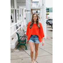 Load image into Gallery viewer, Orange Cropped Knit Top - Top