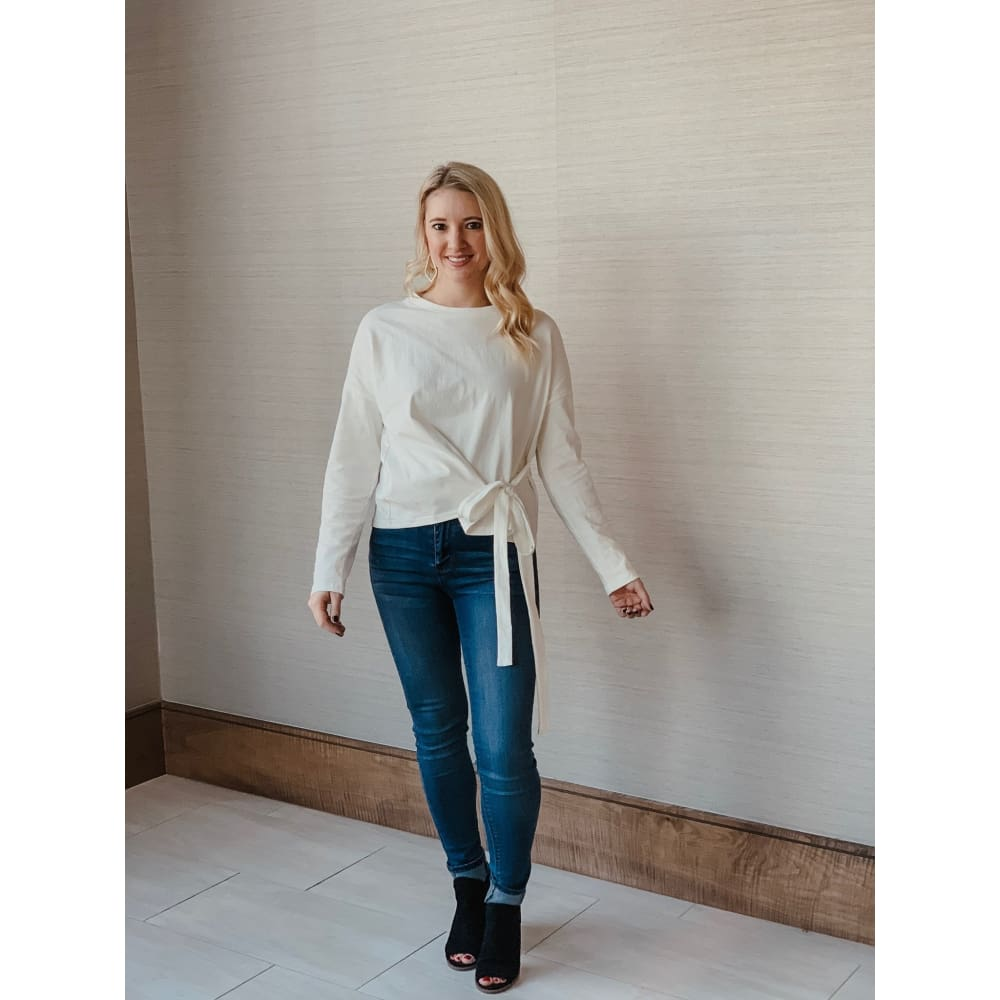 Head Over Heels Ivory Long Sleeve Top - Top