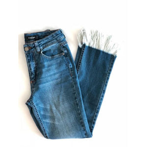 Frayed Straight Jeans - Bottoms