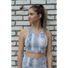 Load image into Gallery viewer, blue snakeskin bra - Athleisure