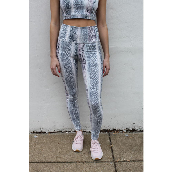 blue snakeskin leggings - Athleisure