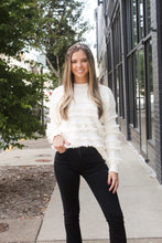 Load image into Gallery viewer, Ivory Fringe Sweater