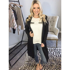 Basic Black Cardigan - Top