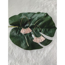 Load image into Gallery viewer, Pink Frayed Earrings - Earrings