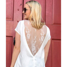 Load image into Gallery viewer, White Lace Hem Top - Top