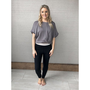 Grey Movement Top - Athleisure