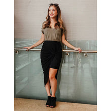 Load image into Gallery viewer, Black High-Waist Skirt - Dress