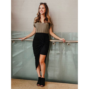 Black High-Waist Skirt - Dress