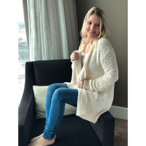 Cozy Cream Knit Cardigan - Sweater