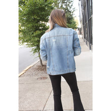 Load image into Gallery viewer, Oversized Denim Jacket - Jacket