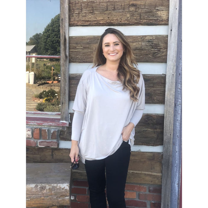 Shell Long Sleeve Dolman Top - Top