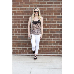 Leopard Lace Cami - Top