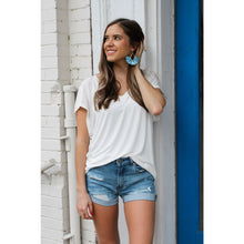 Load image into Gallery viewer, Basic White V-Neck Top - Top