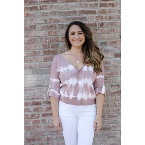 Mauve Tie Dye Sweater - Top