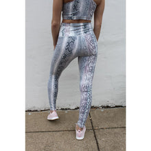 Load image into Gallery viewer, blue snakeskin leggings - Athleisure