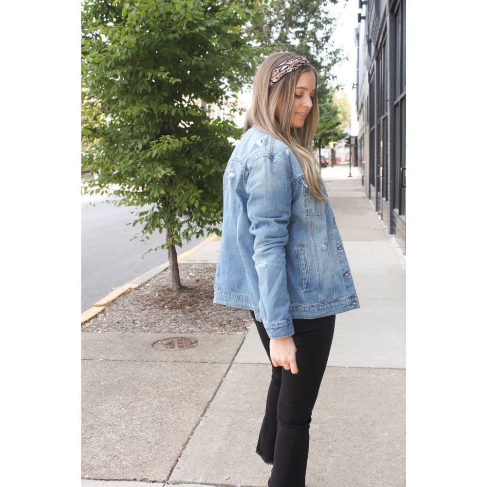Oversized Denim Jacket - Jacket