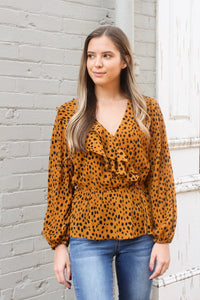 Fierce Feline Ruffle Top - Top