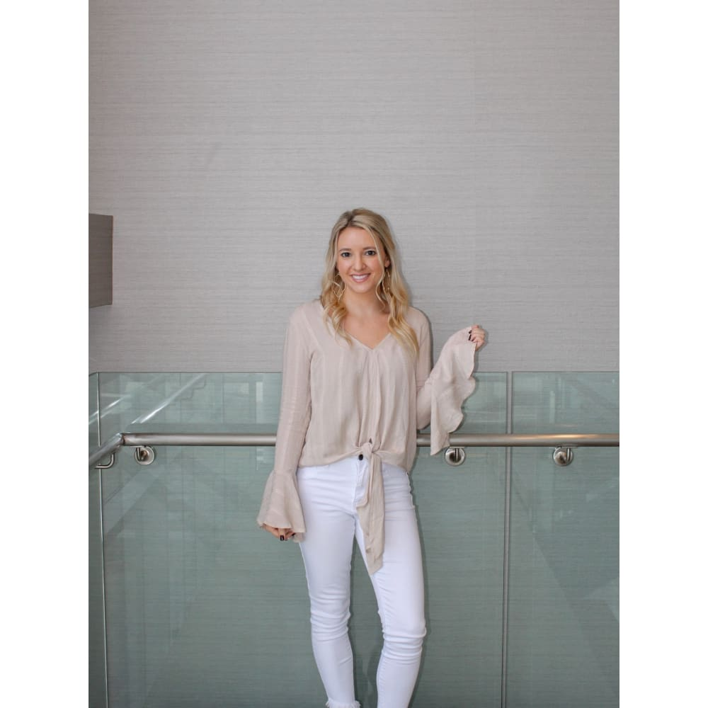 Oatmeal Long Sleeve Top - Top