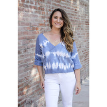 Load image into Gallery viewer, Blue Tie Dye Sweater - Top