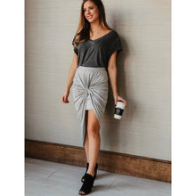 Load image into Gallery viewer, Grey High-Waist Skirt - Dress