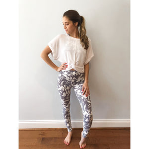 Lavender Bloom Leggings - Athleisure