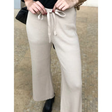 Load image into Gallery viewer, Tan Wide Leg Knit Pant - Bottoms
