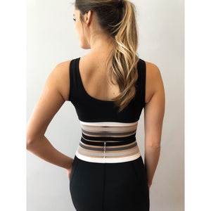 A Stripe Above Sports Bra - Athleisure