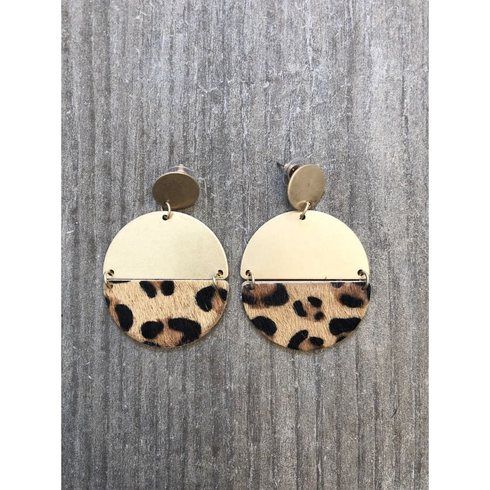 Gold Leopard Earrings