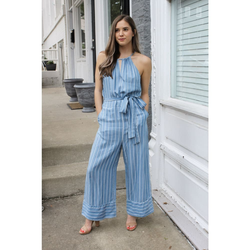 Island Blue Jumpsuit - Bottoms