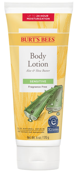 Burt's Bees Aloe & Shea Butter Body Lotion, Sensitive Skin 6 Oz