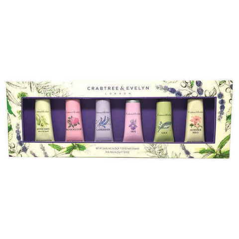 Crabtree & Evelyn Hand Therapy Collection Gift Box Set - 6 Piece