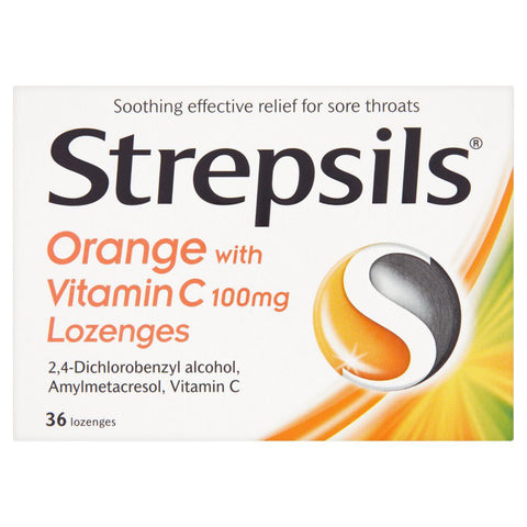 Strepsils Orange with Vitamin C Lozenges