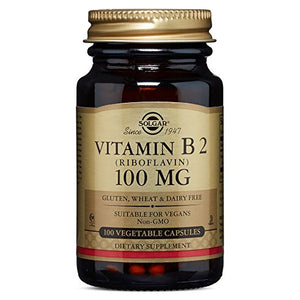 Vitamin B2 (Riboflavin) 100 mg, 100 Vegetable Capsules