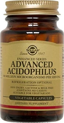 Advanced Acidophilus Solgar 100 Vegetable Caps