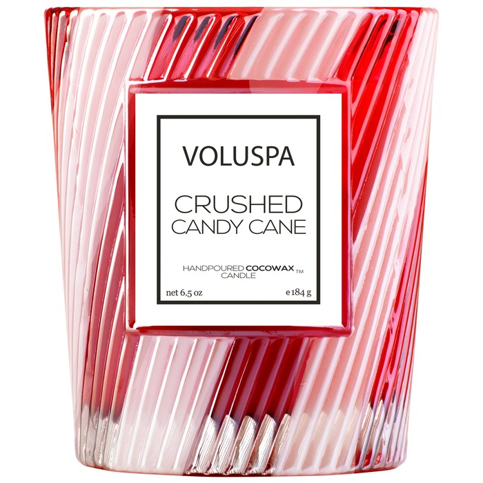 Voluspa Crushed Candy Cane  Classic Candle 6.5 oz